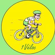 Logo 1veloc vente  location de vélo Arles