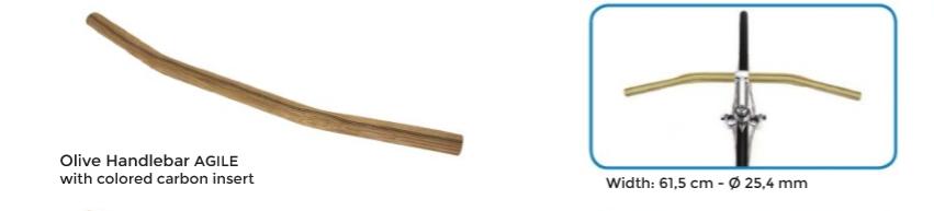 Agile cintre bois olivier carbon pour velo urbain chic guidon velo bois d olivier carbon velo chic www 1veloc fr