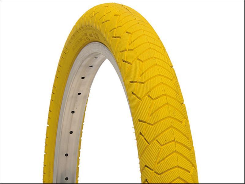 pneu velo jaune 20x1 95 jaune