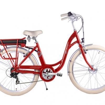 E bike e color rouge arcade www 1veloc fr