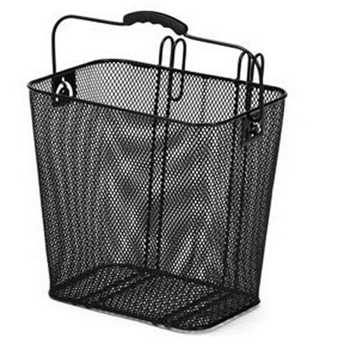 Panier arriere lateral acier noir a crochets 33x24x32 www 1veloc fr