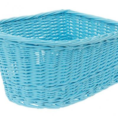 Panier arriere osier naturel bleu blue basket velo vintage www 1veloc fr
