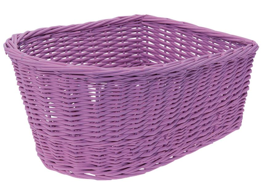 Panier arriere osier naturel lilas purple basket velo vintage www 1veloc fr