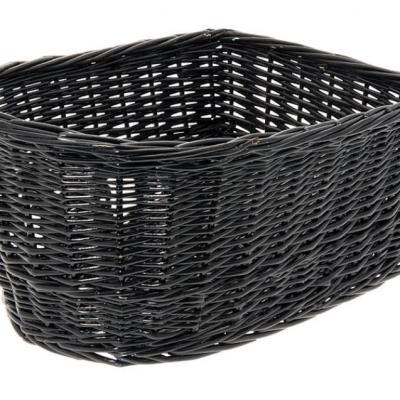 Panier arriere osier naturel noir black basket velo vintage www 1veloc fr