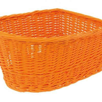 Panier arriere osier naturel orange orange basket velo vintage www 1veloc fr