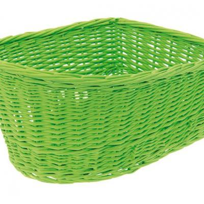 Panier arriere osier naturel vert green basket velo vintage www 1veloc fr