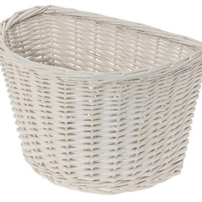 Panier avant osier naturel blanc white basket velo vintage www 1veloc fr