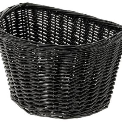 Panier avant osier naturel noir black basket velo vintage www 1veloc fr