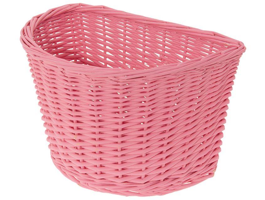 Panier avant osier naturel rose pink basket velo vintage www 1veloc fr