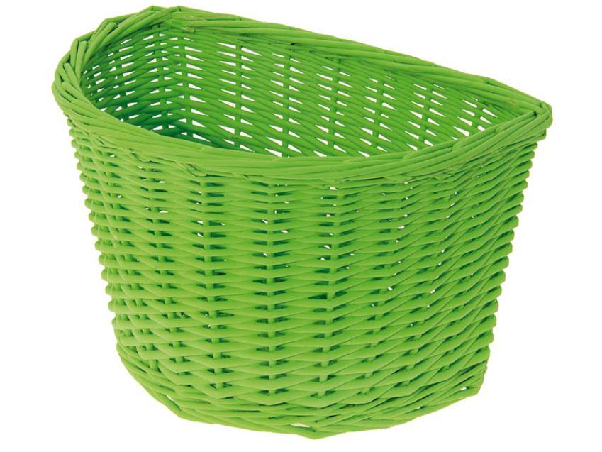 Panier avant osier naturel vert green basket velo vintage www 1veloc fr