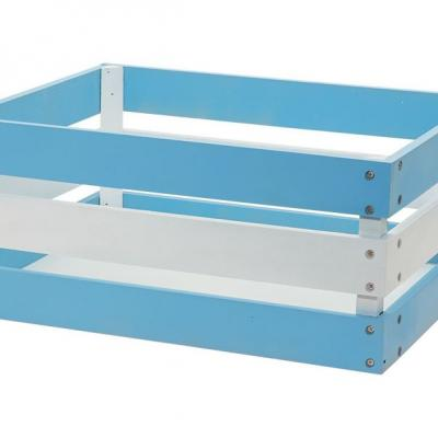 Panier velo caisse en bois renforcee versilia bleu 43x33xh19 www 1veloc fr