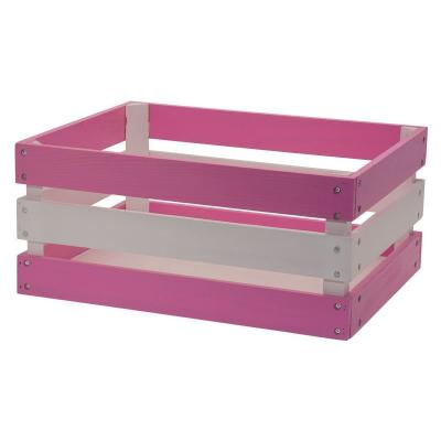 Panier velo rose caisse en bois renforcee versilia pink 43x33xh19 www 1veloc fr