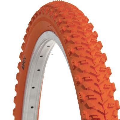 pneu vtt orange cross 26x1 95 orange