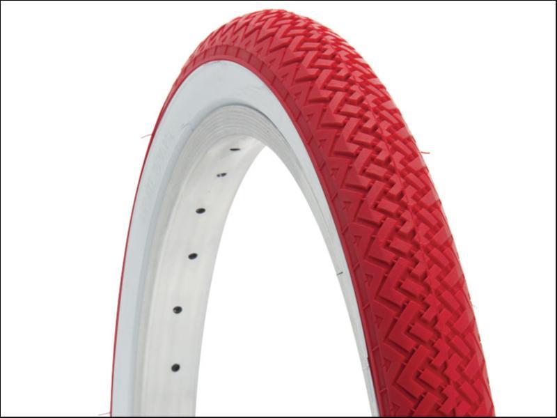 pneu rouge 20x1 75 rouge blanc