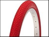 pneu velo rouge  20x1 75 rouge