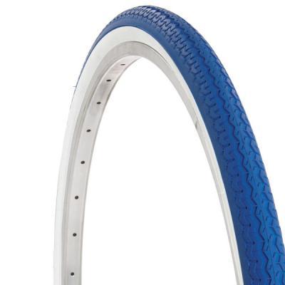 Pneu velo ancien 650a bleu blanc pneu 26x 1 3 8 bleu blanc