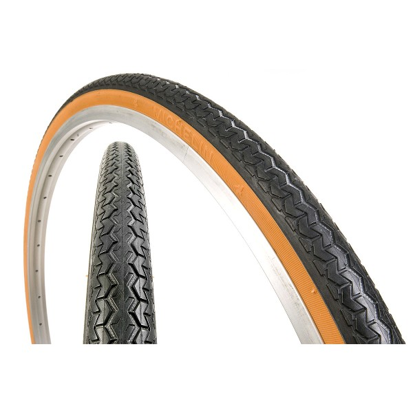 Pneu velo ancien michelin 650x35b 26 x 1 1 2 35 584 marron 1veloc