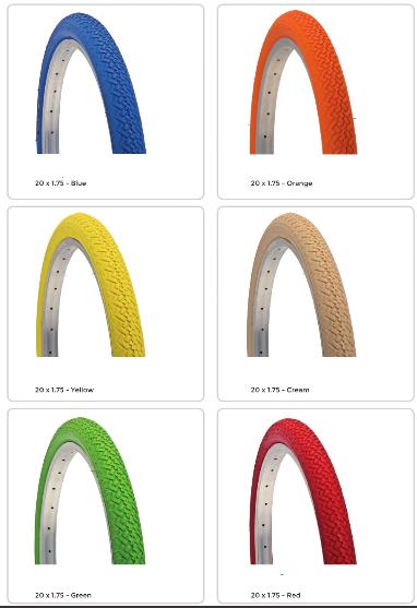 Pneus colores 20 pouces 20x175 tires pink blue folding bike www 1veloc fr