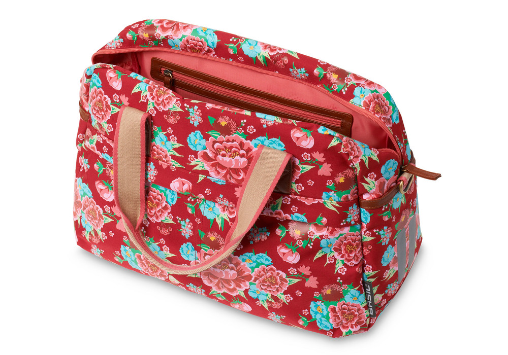 Sacoche carry all sac a main velo 1 basil bloom rouge 1veloc fr