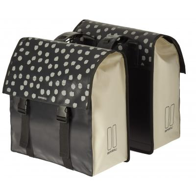 Sacoche velo arriere double urban load db bag 48 53l noir basil 1veloc fr