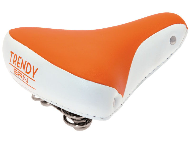 Selle vélo vintage confort orange blanc, 1véloc arles