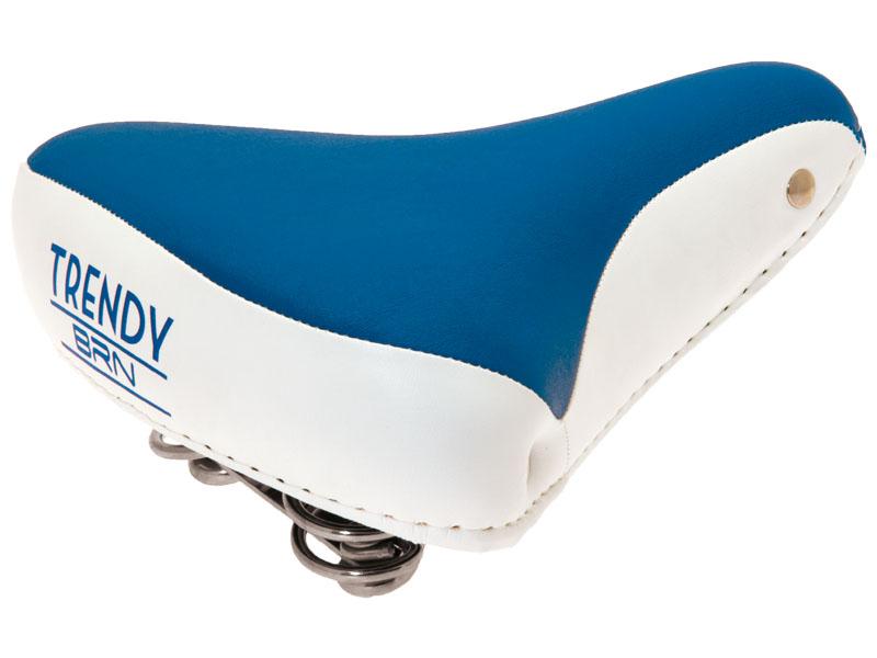 Selle vélo vintage confort jaune bleu, 1véloc arles