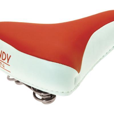 Selle vélo vintage confort rouge blanc, 1véloc arles
