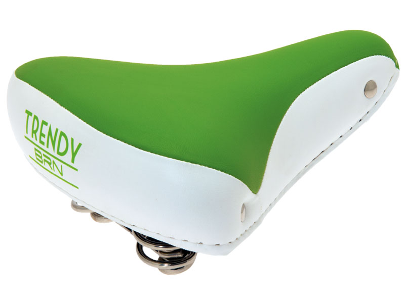 Selle vélo vintage confort vert blanc, 1véloc arles