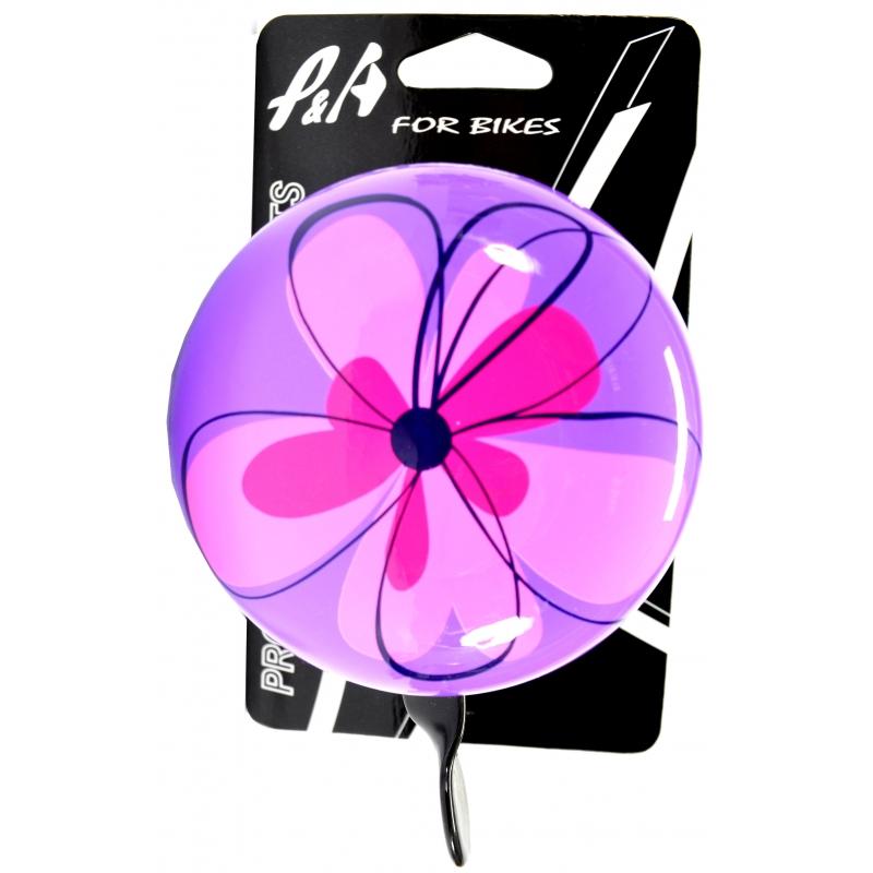 Sonnette aluacier d80mm petites fleurs 80mm www 1veloc fr 3