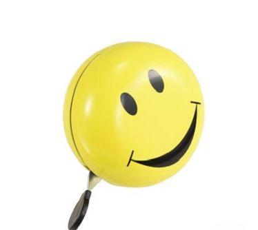 Sonnette ding dong smiley jaune d 80 www 1veloc fr
