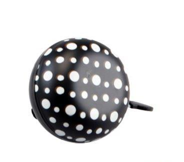 Sonnette dingdong noir pois blancs phosphrecent 80cm 1veloc fr