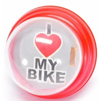 Sonnette i love my bike rouge www 1veloc fr
