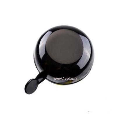 Sonnette velo noire noir ding dong 1veloc fr