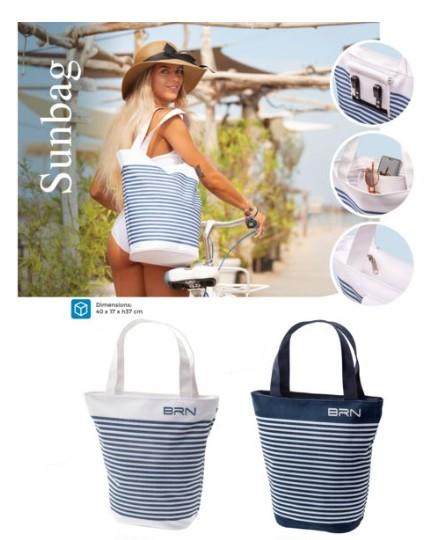 Sunbag sac de plage pour vélo avec fixations intégrées
